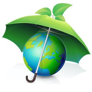Protéger la terre !! (parapluie vert)