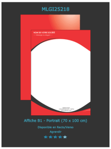L'un des modèles  d'affiche standard que vous pouvez choisir  sur notre site. Prix à découvrir en ligne  ou envoyez nous  un devis en ligne.