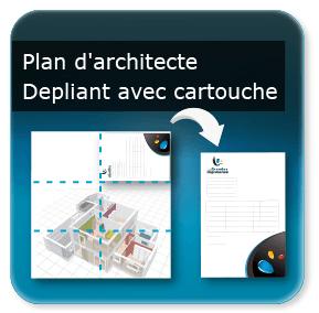 affiche architecte plan