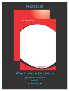 Retrouvez ce modèle d'affiche sur notre site d'imprimeur en ligne. N'oubliez pas de nous envoyer une demande de devis.