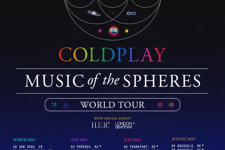 IMPRINTent, IMPRINT Entertainment, YOUR CULTURE HUB, Coldplay, Brian Sommer, New Music Releases, Entertainment News, Music Of The Spheres, Costa Rica, Dominican Republic, Mexico, USA, Germany, Poland, France, Belgium, London Grammar, Rock Music,