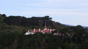 Being the history-nerd that I am, I was thrilled to discover that from the roof of my friends' house in Wellington, I could look straight into the Governor General's residence. Currently it is the Maori-descent Jeremy Mateparae is Gov. Gen. of New Zealand, and he is basically the Queen of England's representative on the far side of the planet. Strictly speaking, he can dissolve parliament, but the role is largely ceremonial these days. Quirky.