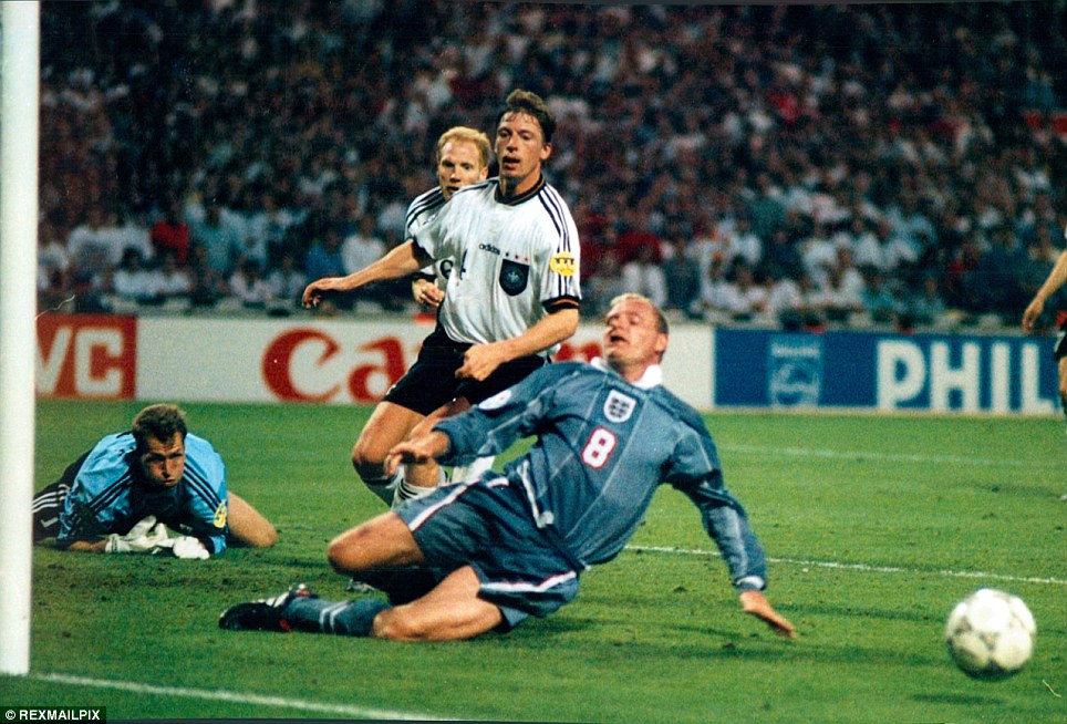 1996 England Germany 1 1 1 1 1 1 5 6 Germanys
