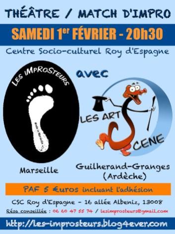 Match avec les Artscène (2014)