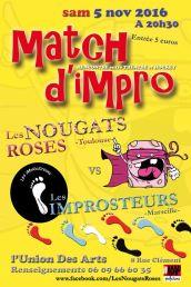 Match à Toulouse avec les Nougats Roses (novembre 2016)