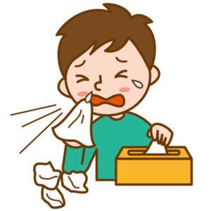 花粉症とはくしゃみ、鼻水、鼻詰まり、目のかゆみなどが特徴的なアレルギー症状