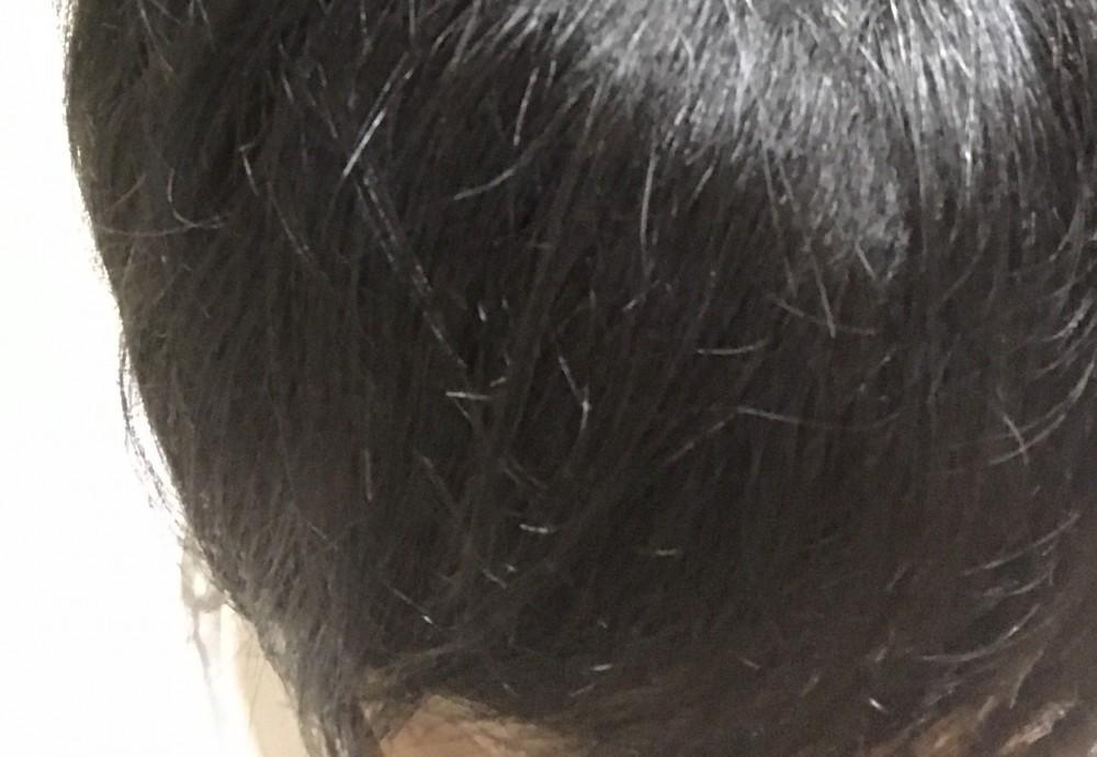 ナノケアでドライした髪の毛