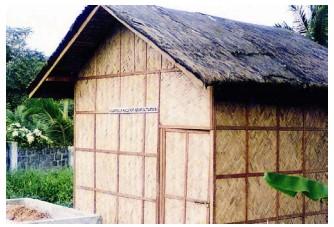Figure 14: Example of a bamboo house on the Philippines