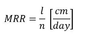 Formula for MRR (mycelium running rate)