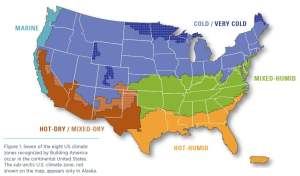 Climate zone definition USA