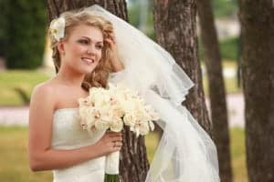 Bride with whitened teeth