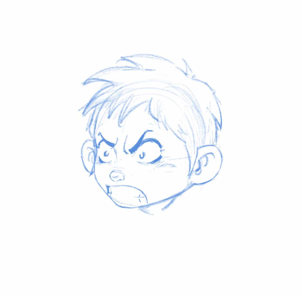 How To Draw Anger Emotion