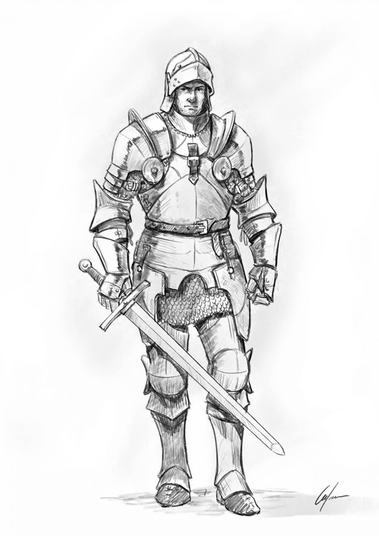 How To Draw A Knight Step By Step Tutorial