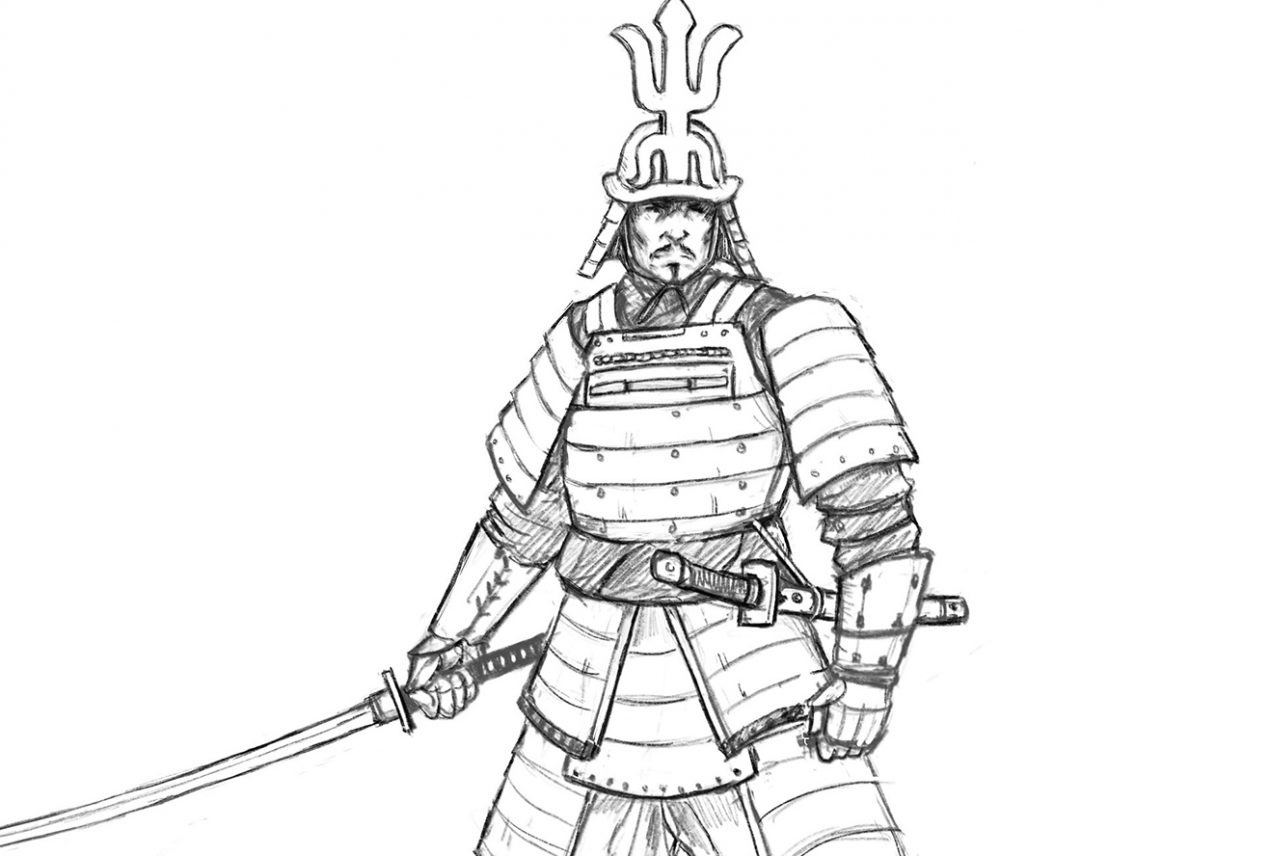 Learn To Draw Samurai Featured Image
