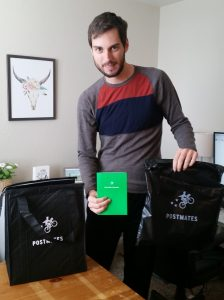 Postmates bag and pre paid card