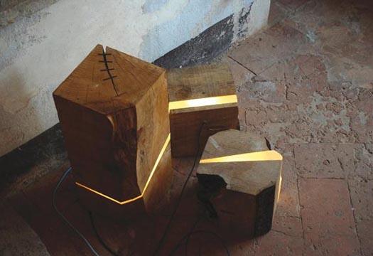 Marco Stefanneli's log lamps