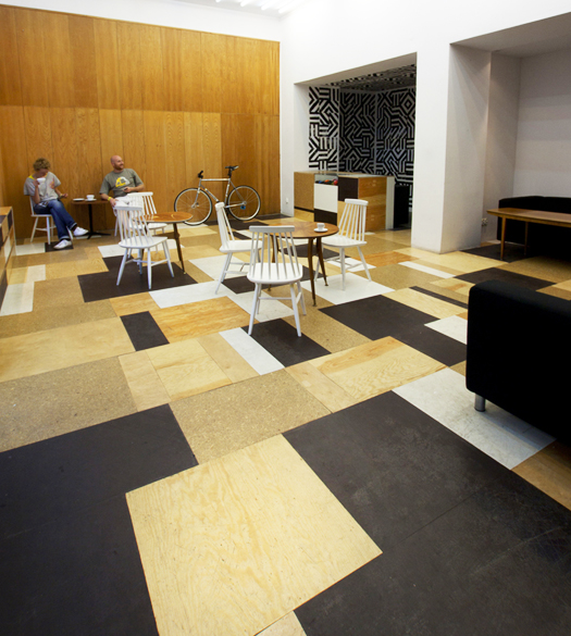 Relaks Cafe scrap tile floor mosaic