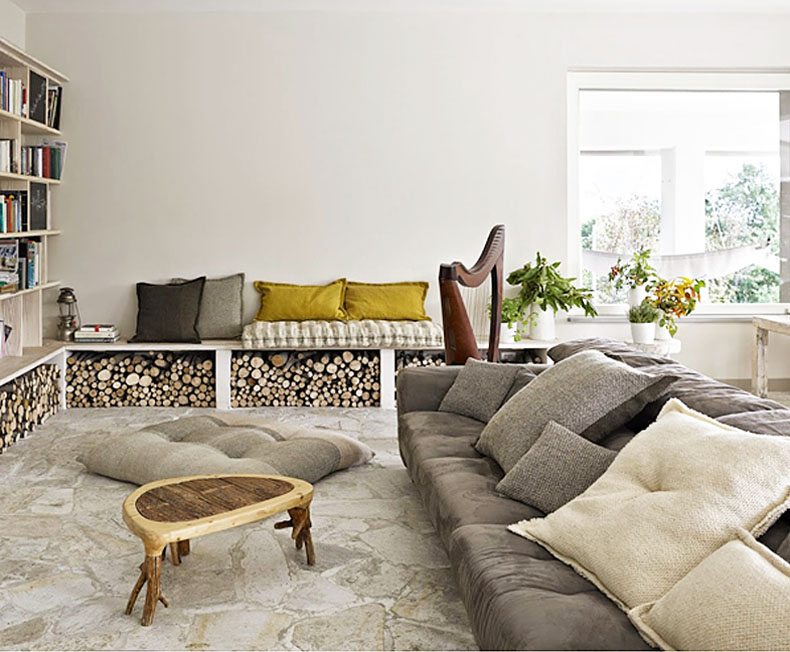 low bench settee storage