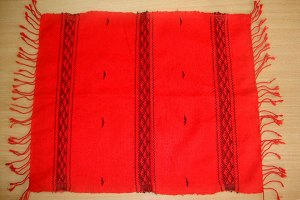 Mishing Table Mats – Black on Red  MITMRDBL