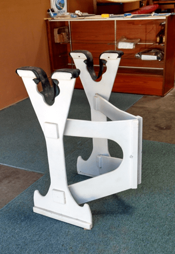 portable surfboard shaping and repair stand pvc