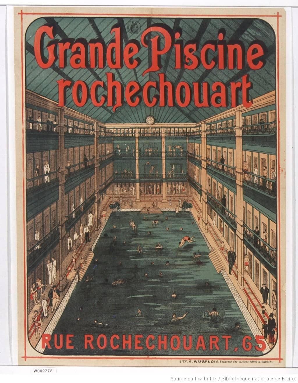 histoire de la natation - piscine de Rochechouart