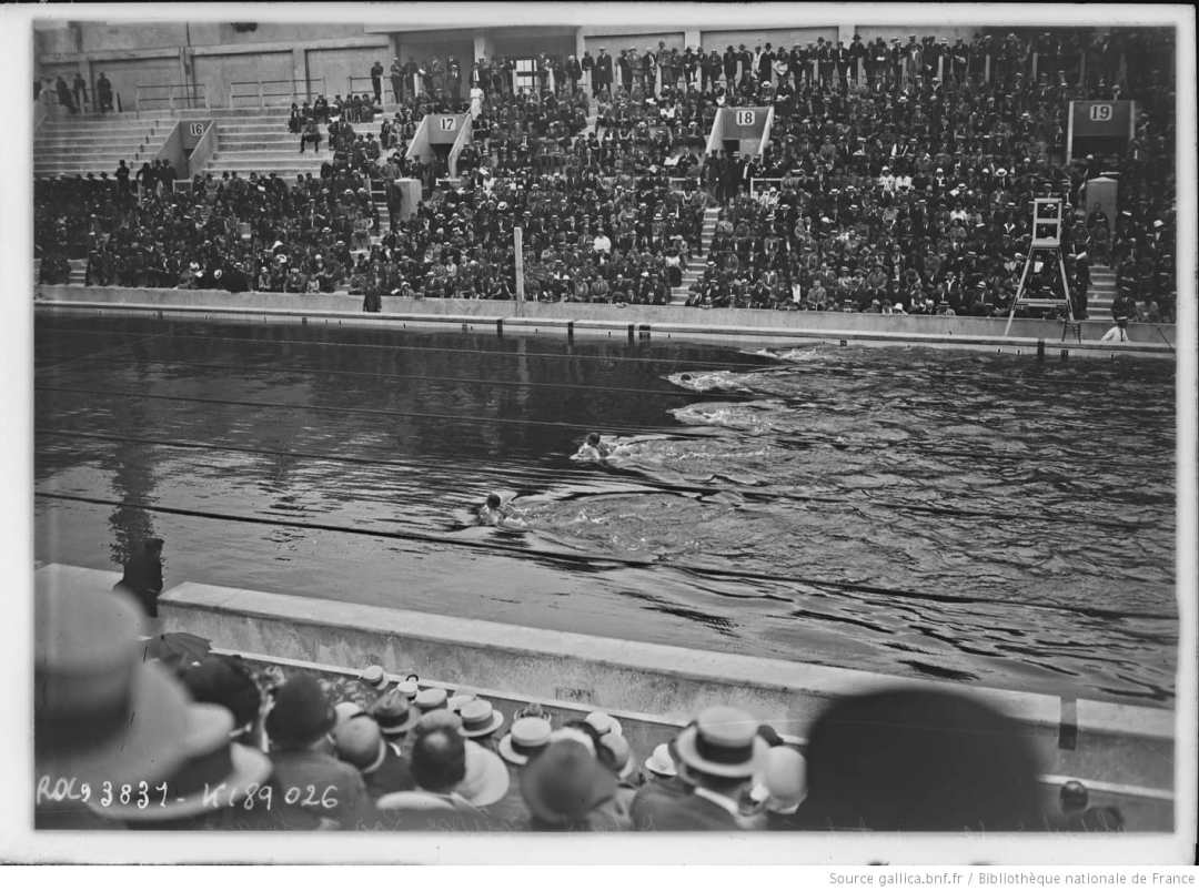 Histoire de la natation, les olympiades de 1924