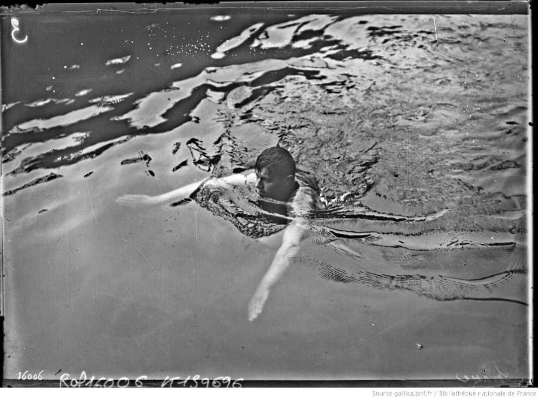 la brasse première nage de l'histoire de la natation