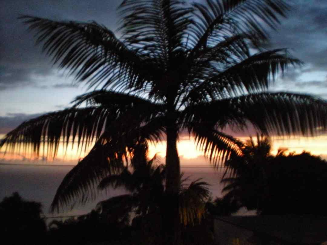 parapente à la réunion coucher du soleil