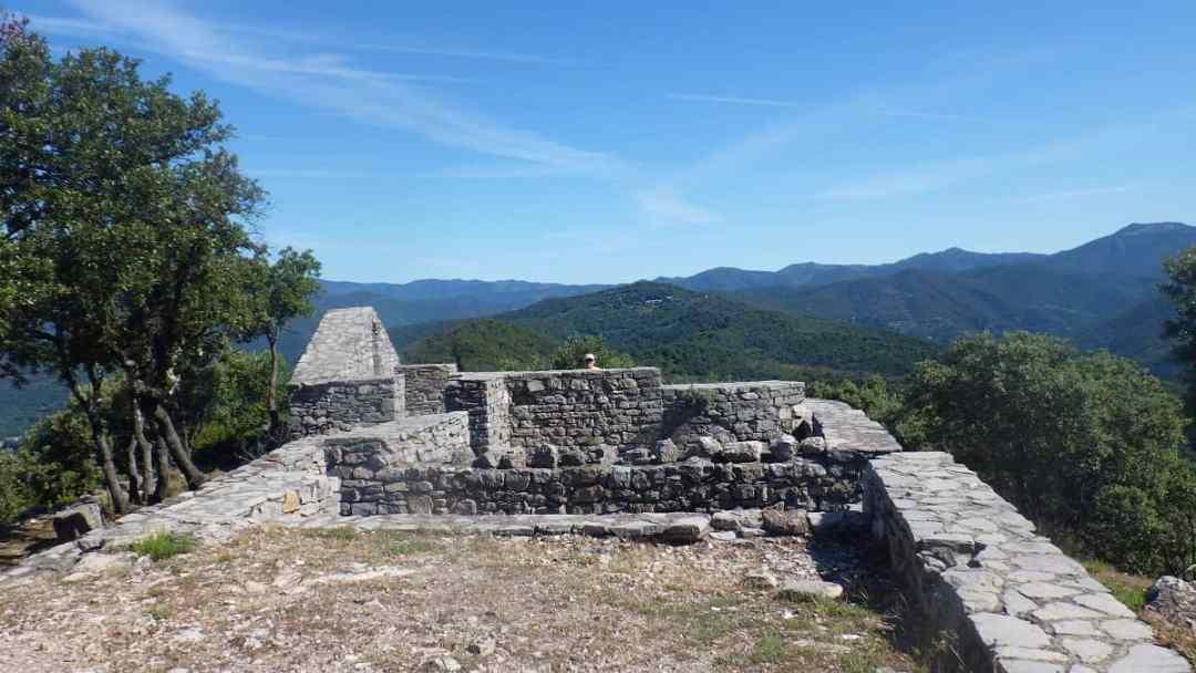 Ruines St Cyprien, les Jumeaux et le Ranc de Banes