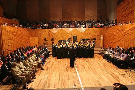 Aspecto de la inauguración del Festival Internacional de Coros de Cámara (cortes�a diario *Impulso*)
