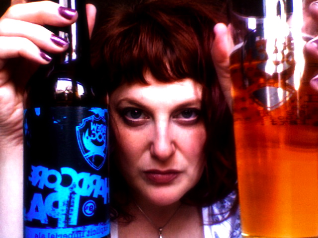 Brew Dog Hardcore IPA and my metal face.