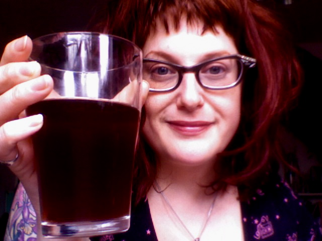 Drinking the mild I brewed four weeks ago.