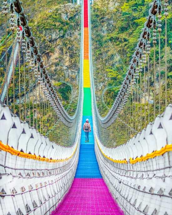 七彩吊橋 南投吊橋,雙龍瀑布,雙龍瀑布七彩吊橋,南投景點,雙龍景點,瀑布景點
