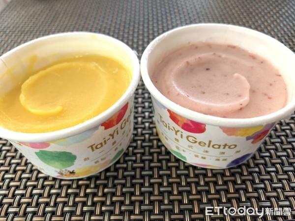 ▲農場利用自產水果製作義式冰淇淋,口感綿密,吃得出天然的味道。(圖/記者簡仲豪攝)