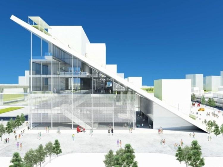 桃園市立圖書館|全台最新圖書館、美術館未開幕先轟動!純白玻璃山坡太期待