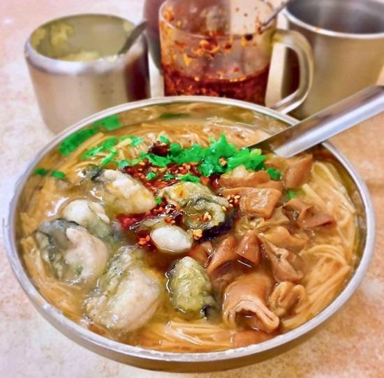 阿川蚵仔麵線 寧夏夜市美食,台北夜市,夜市美食,台北美食,夜市小吃