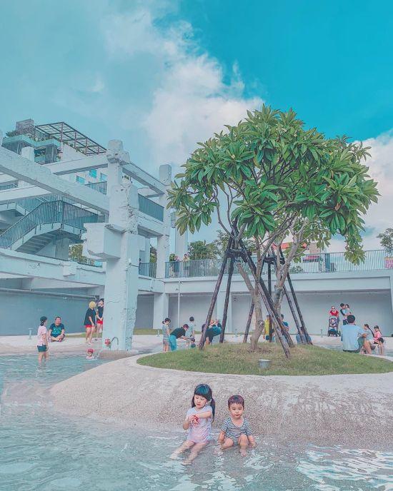 台南新景點|河樂廣場|河樂|親子戲水|文青風|親子