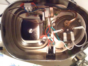 Wiring before the modification