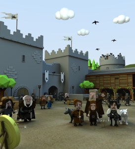 A day in Winterfell, created for the GoT Compendium 3d Illustration- modelled and rendered in StrataStudio3D