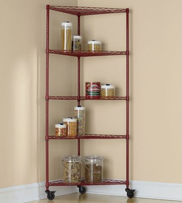 5-Shelf Metal Rolling Corner Rack from Through the Country ... on Corner Sconce Shelf Tray id=98023