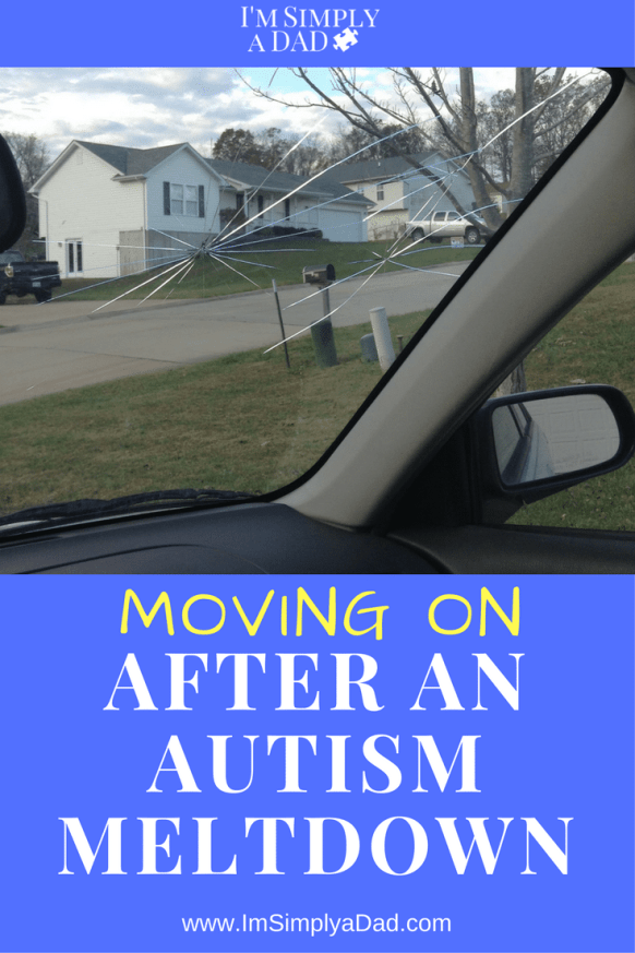 Autism Meltdown: Anxiety spikes & things spiral quickly. This is a story of an autism meltdown, my trouble coping afterward and how my son picked me up and help me move on. I hope other parents can take ideas/tips from this story to help themselves calm down the next time their ASD child has a meltdown.