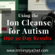 Ion Cleanse for Autism. Our reults after 30 days, plus find out why the water changes color.