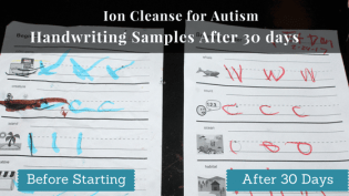Ion Cleanse for Autism handwriting samples