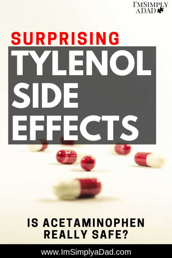 Tylenol Side Effects: Is Acetaminophen Really Safe For Kids? Research shows Tylenol carries a lot of risk especially for pregnant women, babies, and young children. Asthma, Autism, ADHD, lowered IQ are all linked to #acetaminophen use. Click through to learn more and decide if the short term benefits of #Tylenol for fever, pain, teething…etc are worth the long term risks.