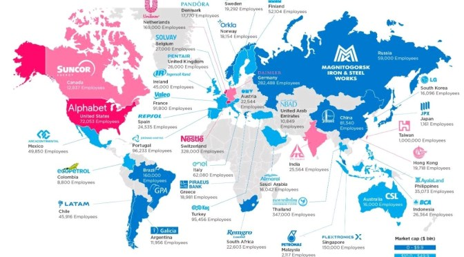 World best employers by country in 2017
