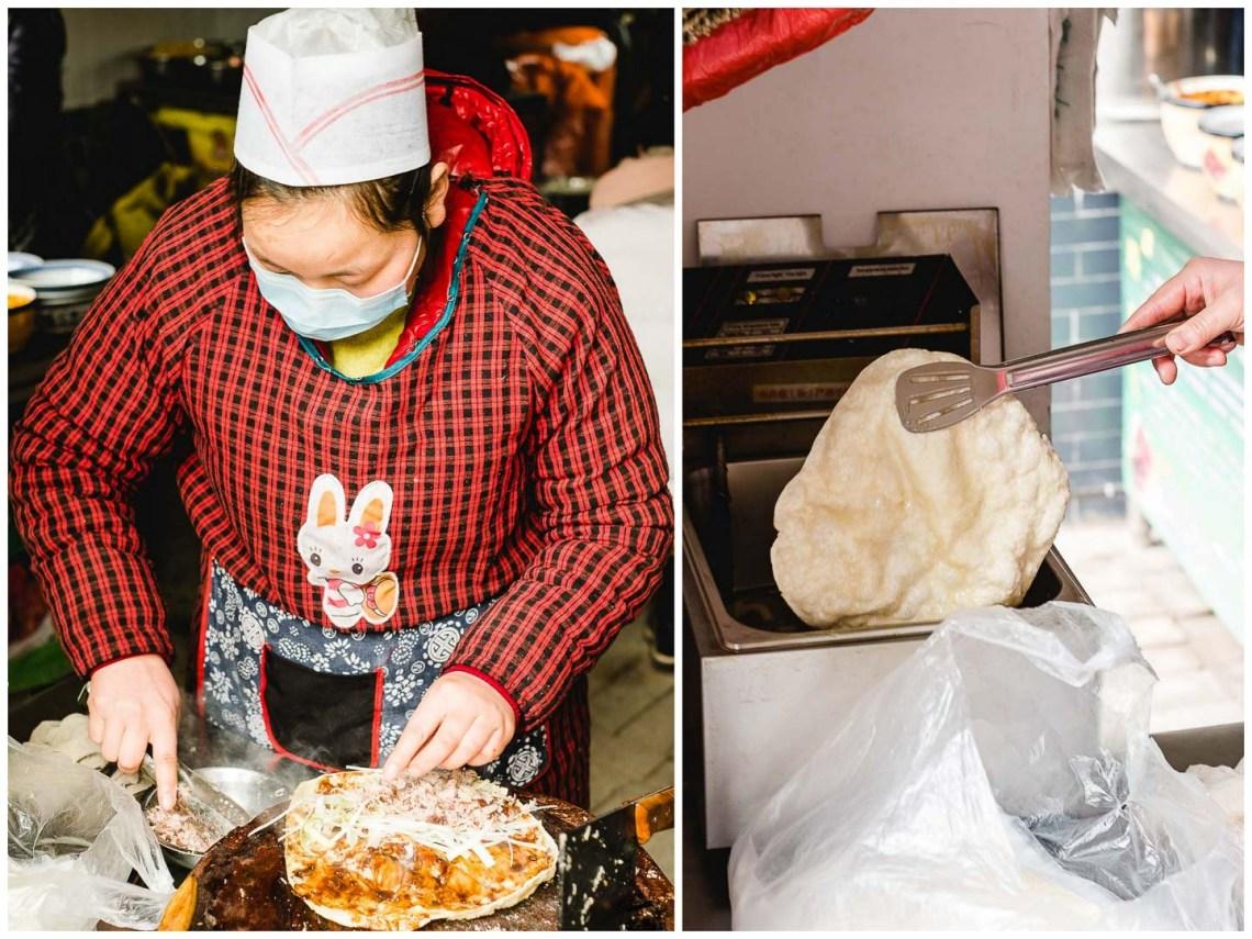 熏肉大饼 (xun rou da bing) Hui Min Jie Xi'an Muslim Street Food