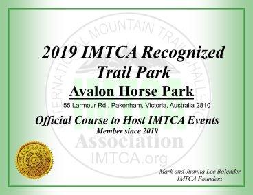 Certificate - Avalon 2019