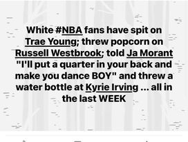 NBA Fans Are Getting Out Of Pocket And Dangerous
