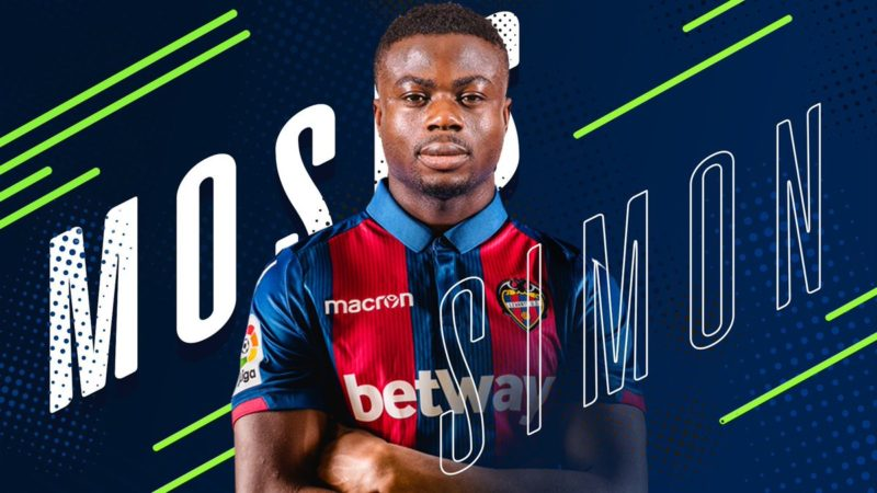 Super Eagles player, Moses Simon signs 5years contract with Levante
