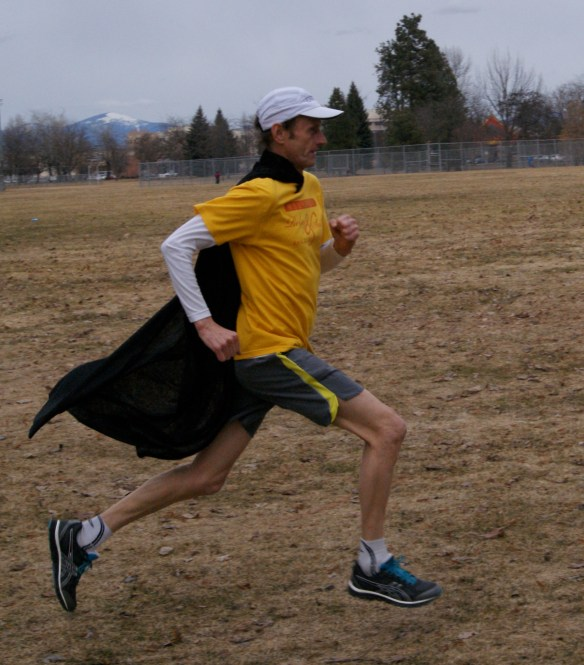 Since I started running with a cape, my times have become world-class.